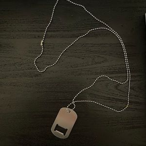 Stainless steel dog tag / bottle opener necklace Chain